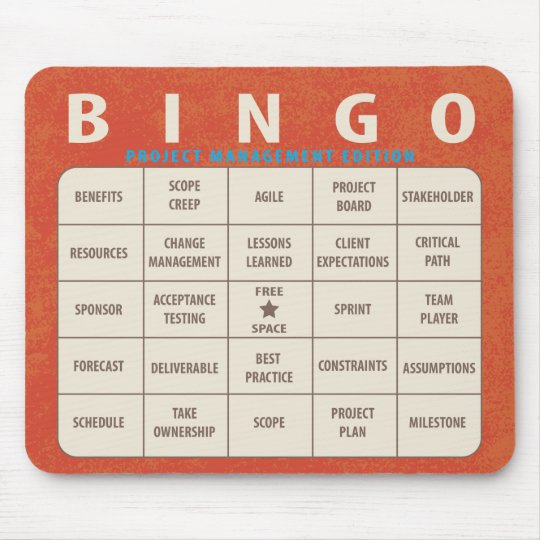Bingo Project Management Edition Mouse Mat