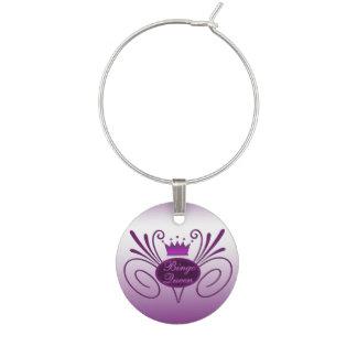 Bingo Queen #3 Wine Glass Charm