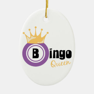 Bingo Queen Christmas Ornament