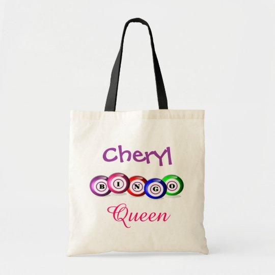 Bingo Queen Fun Bingo Balls Design Tote Bag