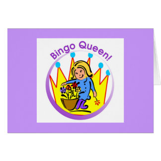 Bingo Queen - open message Card