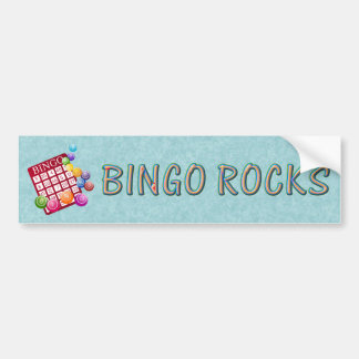 bingo rocks bumper sticker