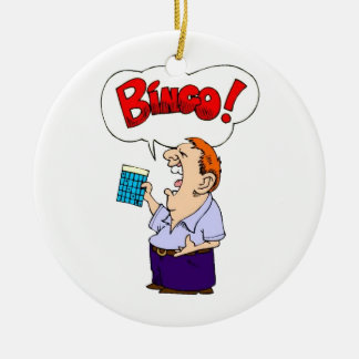 Bingo Round Ceramic Decoration