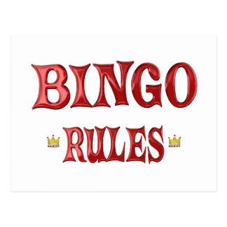 BINGO Rules Postcard