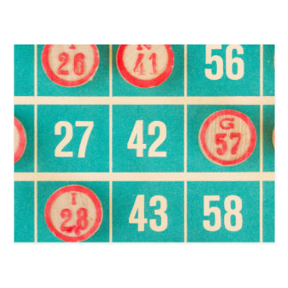 Bingo Score Card Closeup Postcard