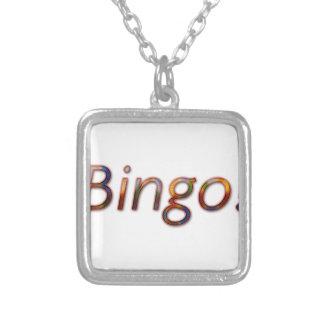 Bingo! Silver Plated Necklace