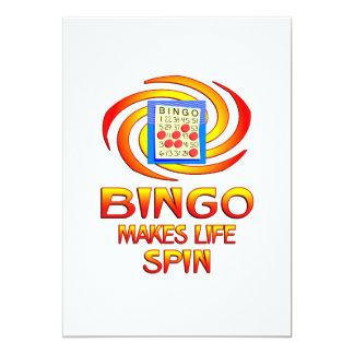 "Bingo Spins 5"" X 7"" Invitation Card"