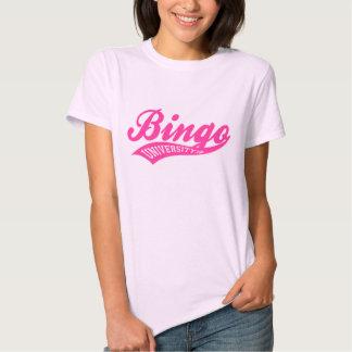 Bingo University Baby Doll swish logo ladies shirt