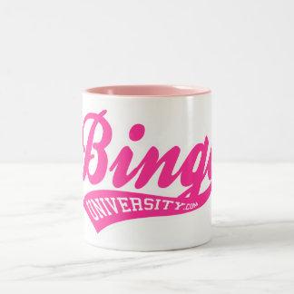 BINGO UNIVERSITY sports script mug
