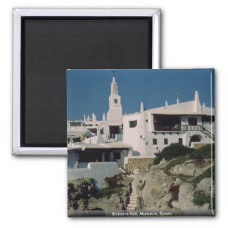 Binibeca Vell, Menorca, Spain Square Magnet