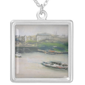 Binnenalster with the Lombardsbrucke Silver Plated Necklace