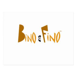 Bino and Fino Logo Postcard