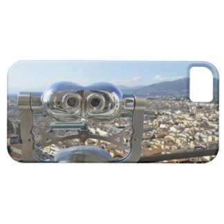 Binoculars overlooking Florence cityscape, top iPhone 5 Covers