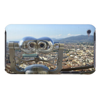 Binoculars overlooking Florence cityscape, top iPod Touch Cases