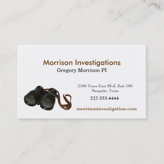 Binoculars private investigator business card zazzle binoculars private investigator business card colourmoves