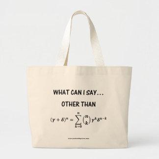 Binomial Theorem Tote Bag