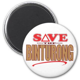 Binturong Save 6 Cm Round Magnet