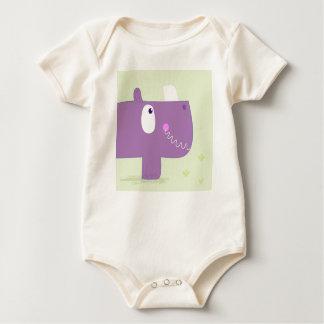Bio cotton baby body with Rhino Baby Bodysuit
