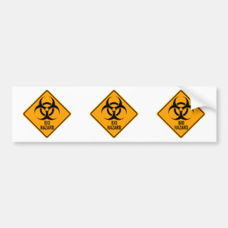 Bio Hazard Biohazard Yellow Diamond Warning Sign Bumper Sticker