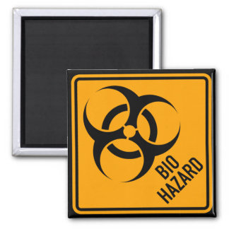 Bio Hazard Biohazard Yellow Diamond Warning Sign Square Magnet