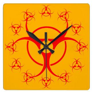 Bio-hazard Clock Bio-Hazard Warning Gift Decor