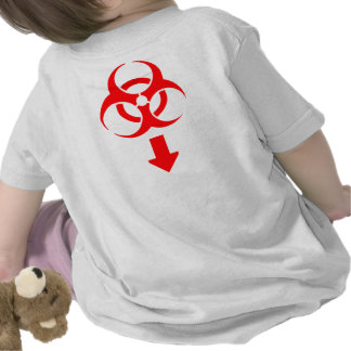 Bio-hazard Diaper - Red Tee Shirts
