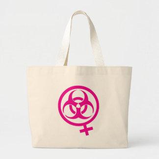 bio hazard femme canvas bag