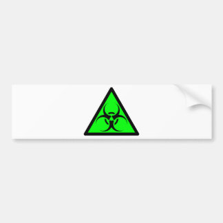 Bio Hazard or Biohazard Sign Symbol Warning Green Bumper Sticker