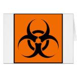 Bio Hazard or Biohazard Sign Symbol Warning Orange