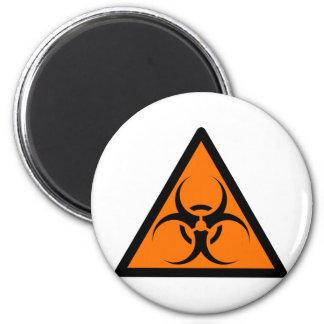 Bio Hazard or Biohazard Sign Symbol Warning Orange Fridge Magnets