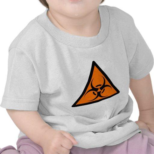 Bio Hazard or Biohazard Sign Symbol Warning Orange T Shirt