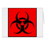 Bio Hazard or Biohazard Sign Symbol Warning Red