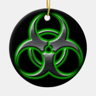 Bio-Hazard Ornament Green