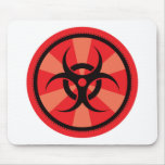 Bio-Hazard - Red Mouse Pad