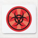 Bio-Hazard - Red Mouse Pad