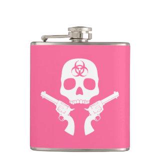 Bio-hazard Skull Hip Flask