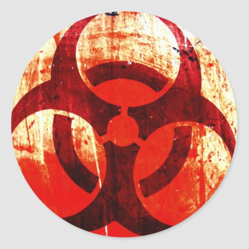 Bio-Hazard Round Stickers