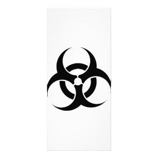Bio-Hazard Symbol Personalised Rack Card