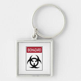 Bio Hazard Vintage Sign Keychain