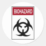 Bio Hazard Vintage Sign Sticker