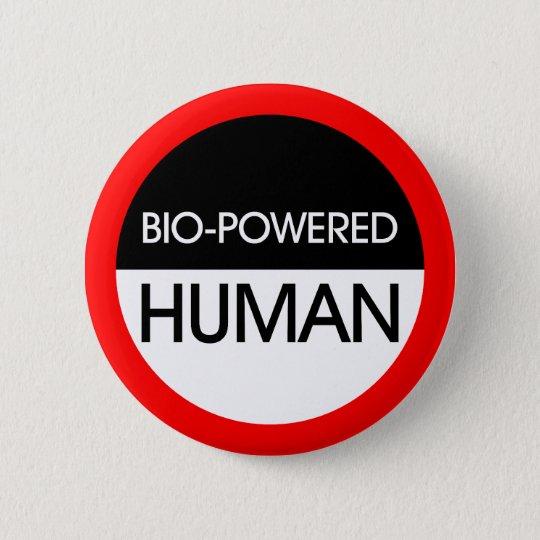 Bio-Powered Human 6 Cm Round Badge