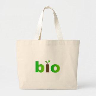 Bio text symbol of eco friendly concept bags