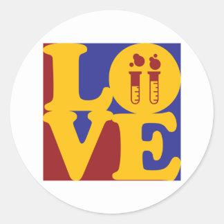 Biochemistry Love Round Sticker