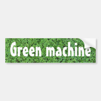 Biodiesel powered car bumper sticker