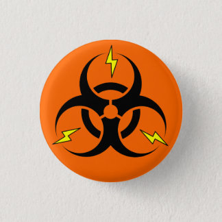 Bioelectric Hazard 3 Cm Round Badge