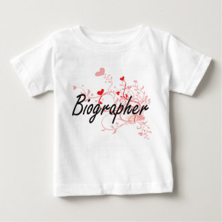 Biographer Artistic Job Design with Hearts Tee Shirt