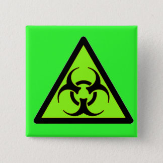 Biohazard 04 15 cm square badge
