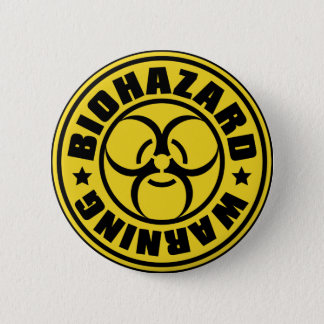 BIOHAZARD 6 CM ROUND BADGE