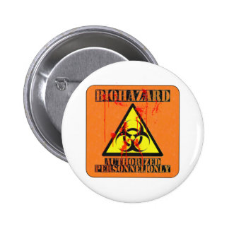 Biohazard authorized personnel only buttons