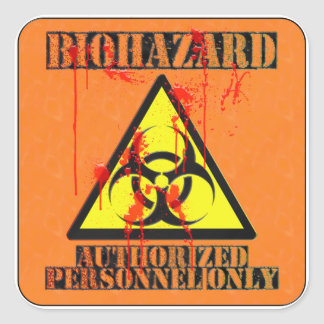 Biohazard authorized personnel only stickers
